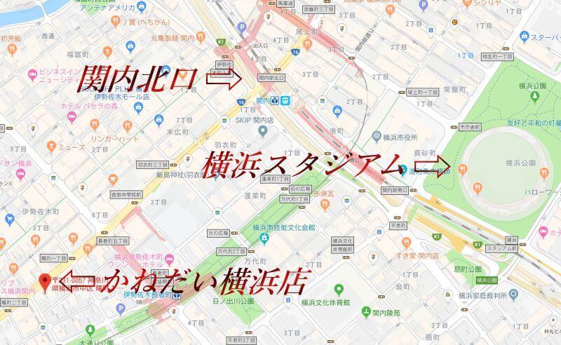 かねだい 横浜店 地図